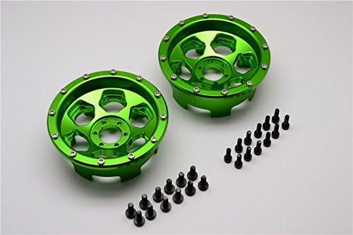 Axial Yeti Upgrade Pièces Aluminium Front/Rear 2.2 2.2 2.2 Wheels Beadlock (6 Poles) - 1Pr Set Green | Technologie Sophistiquée  cdb8e3