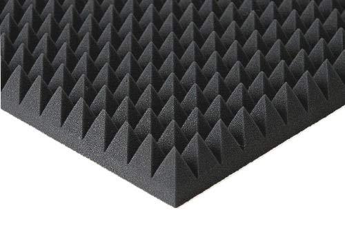 Pyramiden Schaumstoff Akustik Dämmung Noppenschaum Mit oder Ohne Selbstklebend (8 cm/mit Selbstklebend, Anthratzit/Schwarz)