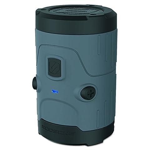 Scosche BTH20GY boomBOTTLE H2O wasserdichte wireless Lautsprecher (3,5mm Klinke, v4.0 Bluetooth, 5 Watt) schwarz
