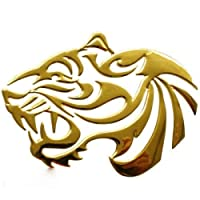 Gold 3D Chrome Emblem Sticker TIGER Motorcycle Car styling DZ 27 g