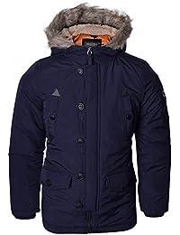 Boys Jacket Parka Coat Brave Soul Kids Padded Sherpa Hooded Fur Lined Winter New