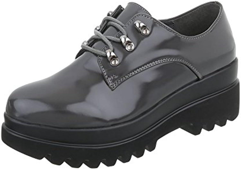 Zapatos para mujer Mocasines Tacón ancho Zapatos con cordones Ital-Design