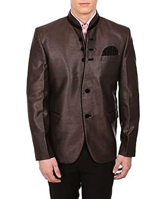 Wintage Men's Rayon Festive Bronze Blazer