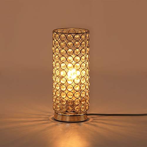 Kristall Tischlampe,Fy-Light Nachttisch dekoration zimmer schreibtischlampe modernes design nachtlicht lampe mit led lampen für schlafzimmer, wohnzimmer