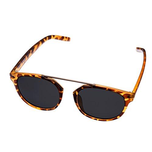 MIRA MR-810 Schildpatt Sonnenbrille für Damen - Polarisierte Brillengläser mit 100% UVA- und UVB-Schutz - Komfortables Retro-Design - Inklusive Geschenkbox & Mikrofaser-Tragetasche