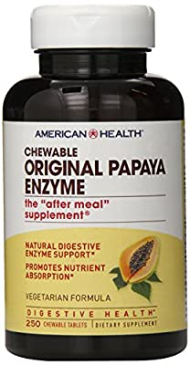 American Health Papaya Enzyme, Original Chewable 250 Tabs from American Health