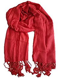 Stoles And Scarves For Women, Women's Scarf, Stole For Summer/Winter, Stylish, Plain Scarf, Red