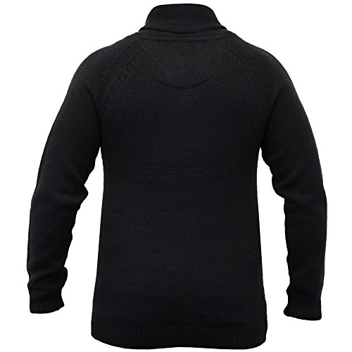 Hommes Mélange Laine Pulls Threadbare Pull Tricot Col Châle Pull D'hiver Neuf Bleu marine/Noir - IMV038PKB