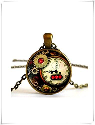 Steampunk Antique Uhr Gears Halskette