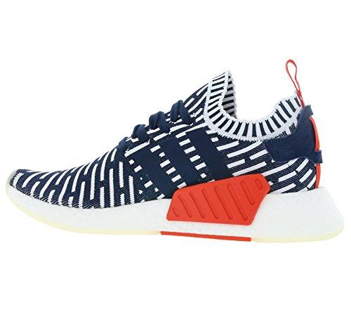 Adidas NMD_R2 PK White Navy Sneakers - Scarpe Da Ginnastica Blu e Bianche Con Pattern Collegiate Navy/Collegiate Green/Footwear White
