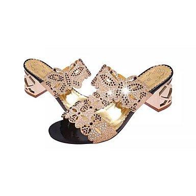 RTRY Donna Sandali Comfort Estivo Pu Dress Chunky Heel Crystal / Tacco Di Cristallo Nero / Blu / Blu Royal Altri US5.5 / EU36 / UK3.5 / CN35