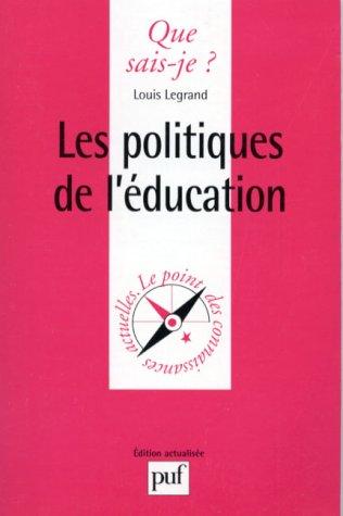 Les Politiques de l'éducation