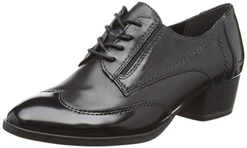 Tamaris Damen 23313 Oxfords, Schwarz (Black), 41 EU