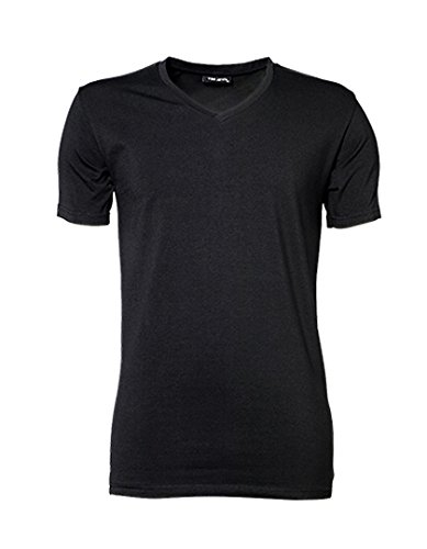 Mens Stretch V-Tee (Stretch-baumwolle Tee V-neck)