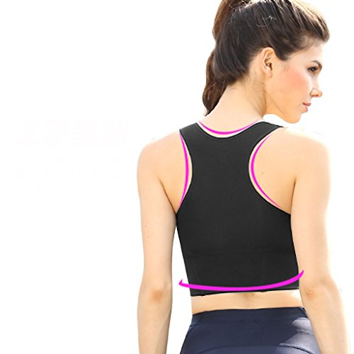 ny Fitness Bra Gather Shock Sports Veste de style anneau Sans Yoga Vêtements Sous-vêtements Noir