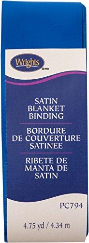 Wright Produkte Single Fold Satin Decke Bindung, Schnorchel Blau, 5,1cm X4-3/4Yd -
