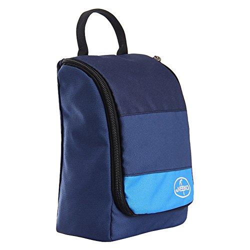 Sac de lavage de voyage/Sac à cosmétiques imperméable à l'eau portable entreprise/Voyages plein air sac de rangement-bleu royal