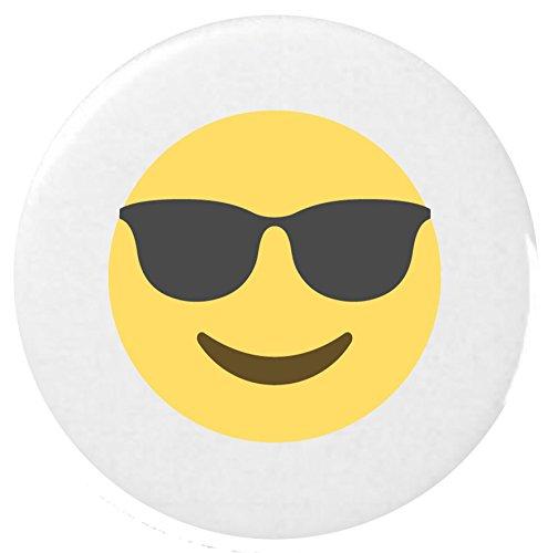 lächelndes Gesicht mit Sonnenbrille Emoji 25 mm Anstecker / Smiling Face With Sunglasses Emoji 25mm Button Badge