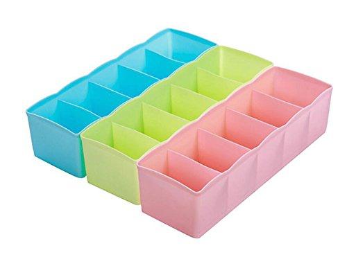 Da.Wa 3PCS Drawer Organiser Multifunktionale Kunststoff Aufbewahrungsbox für Socken, Unterwäsche, Krawatten Unterwäsche-schublade Veranstalter