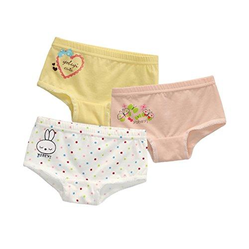 Babyicon 3 Stück Baby Mädchen Baumwolle Unterwäsche Trainerhosen Unterhosen (73-80cm: (12-18 Monate), C)
