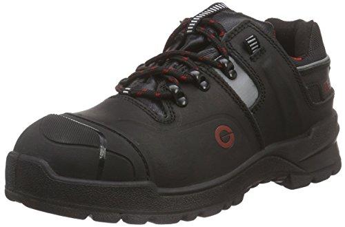 SanitaBasalt_S3 lace leather shoe - Scarpe Antinfortunistiche Unisex - Adulto , Nero (Schwarz (Black 2)), 43