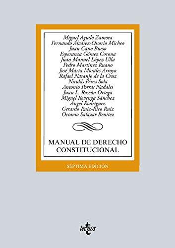 Preisvergleich Produktbild Manual de derecho constitucional (Derecho - Biblioteca Universitaria De Editorial Tecnos)