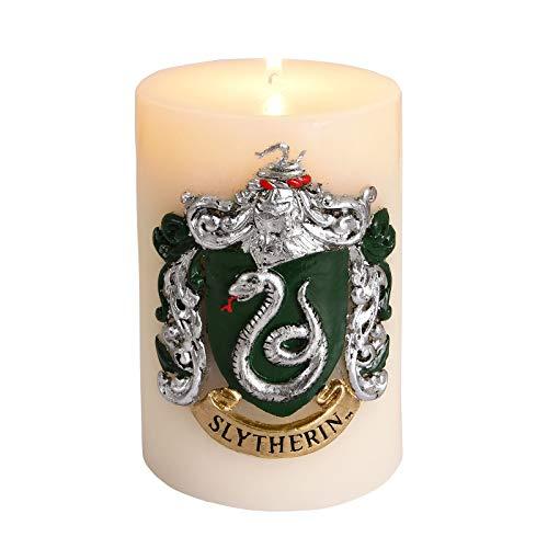 Insight Editions Harry Potter Slytherin Insignia große Kerze geformt 8,5 Multi ge Kerze Säule mit 80 Stunden brennen Mal magisches Geschenk für Schüler in Slytherin und Fans