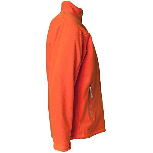 Planam Veste polaire style rétro Noir orange