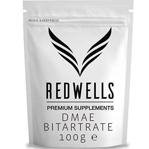 REDWELLS - 100g of Pure DMAE Powder (No Additives) w/ FREE SCOOP! Test