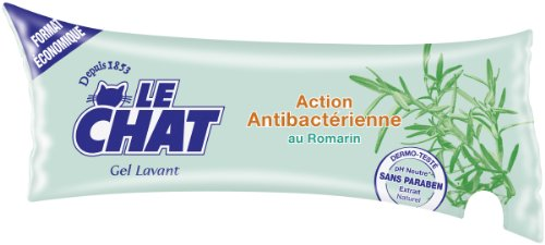 Le Chat Gel Lavant Action Antibactérienne Romarin Berlingot 250 ml