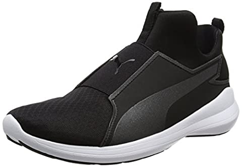 Puma Damen Rebel Mid Sneakers, Schwarz (Puma Black-Puma Black-Puma White 01), 38 EU