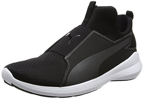 Puma Rebel Mid Sneaker a Collo Alto Donna Nero Black Black White 40 W4T