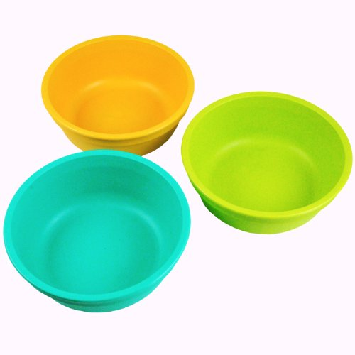 Re-Play Bowls (Set of 3, Green/ Orange/ Aqua)