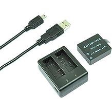 MP power ® 1 x Reemplazo 900mah 3.7V batería + USB cargador de batería dual para Cámara Deportiva SJ4000