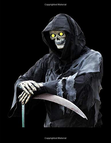 (Grim Reaper With Evil Yellow Eyes Notebook Journal 150 Page College Ruled Pages 8.5 X 11)