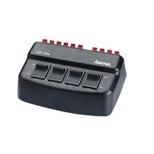 Hama Lautsprecher-Umschaltbox (4-fach, Umschalter für vier Lautsprecherpaare)