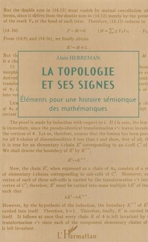La topologie et ses signes : éléments pour une histoire sémiotique des mathématiques