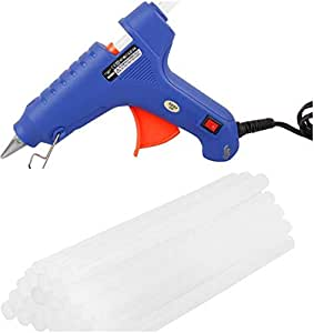 CETC PVC 100 W Hot Melt Glue Gun with 10 Sticks Triple Power Rapid Heating and Quick Melt (Blue)