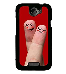 Smiley Finger Art 2D Hard Polycarbonate Designer Back Case Cover for HTC One X :: HTC One X+ :: HTC One X Plus :: HTC One XT