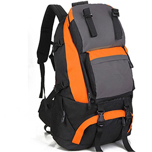 Zaino outdoor alpinismo maschili e femminili borsa tracolla viaggio escursionismo borsa impermeabile backpack,green(40L) Orange(60L)