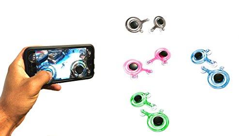Neue Mobile Joystick Game Controller für Android iPhone iPad Tablet Funny Schwarz Joypad 2Packungen Smartphone Play Rocker Motion Arcade Schwarz