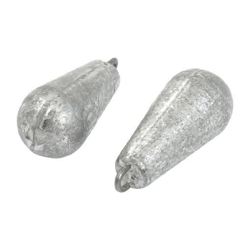 Plomada - TOOGOO(R) Disparo de cebo de sedal Plomada de peso plomo en forma d gota de agua 3D 2pzs
