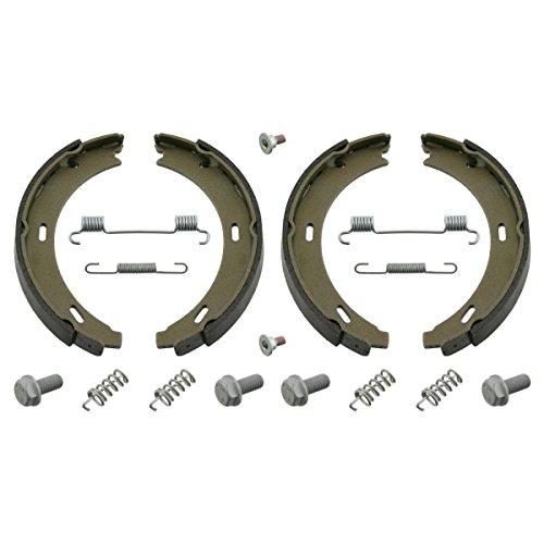 Preisvergleich Produktbild febi bilstein 02100 Bremsbackensatz für Feststellbremse / Handbremse, mit Anbaumaterial (hinten, 2 Bremsbacken)