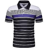 Beikoard_Camisa de para Hombre Solapa de Rayas de Imprimiendo - CS02(M-2XL)❤ Limitado Promoción_Tops Camisetas Ropa Hombre Deportivas Sudaderas Chándales 2018 Ofertas
