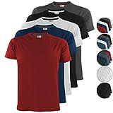 ALPIDEX 5er Set T-Shirts in verschiedenen Farben, Größe:L, Farbe:Fire