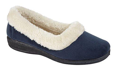 Nouveaux Ladies sur Door Bed Bottes Mules Escarpins Femmes Slip sur Chaussures Hiver Chaussons SUSAN-Petrol