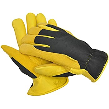 Gents Quality Leather Dry Wear Gardening Gloves Yard, Garden & Outdoor Living