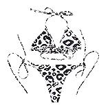 XuxMim Damen Sommer Bademode Bikini Set Push-Up Gepolsterter BH Badeanzug Badeanzug(Khaki,Medium)