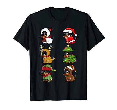 Dackel Xmas Kostüme Lustiger Hund Weihnachten Geschenk  T-Shirt (Dackel Weihnachten Kostüm)