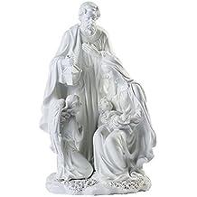 Giftgarden® Sacra Famiglia con Natività di Gesù Statuine Presepe Bianco